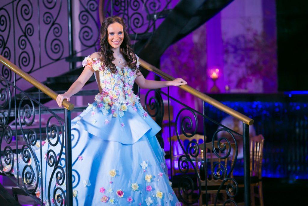 Vestido de debutante azul