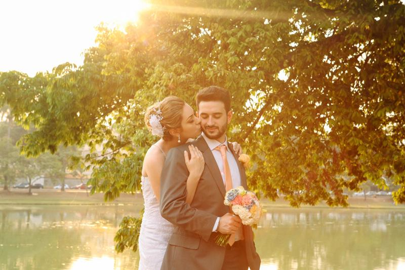Casamento ao ar livre no Por do Sol