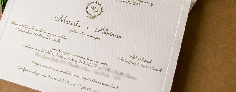 RSVP Confirmação de presença em casamento