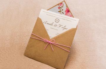 convite rustico para casamento no campo