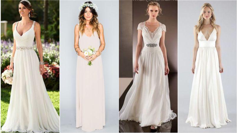 Vestido de noiva diurno