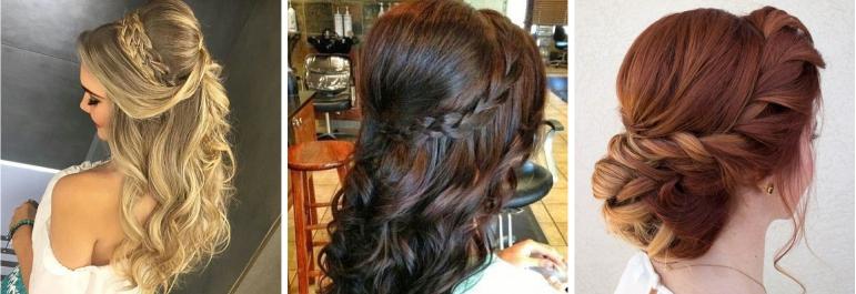 Madrinhas de Casamento - Penteados para Cabelos Cumpridos