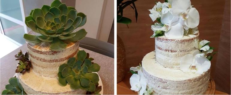Naked Cake com Flores