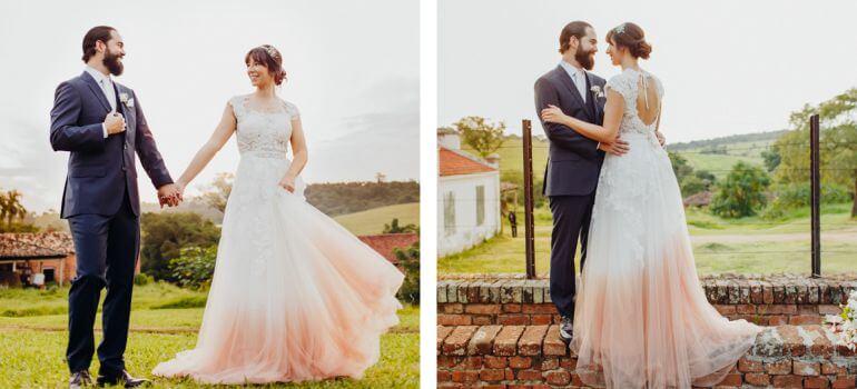Visual dos noivos