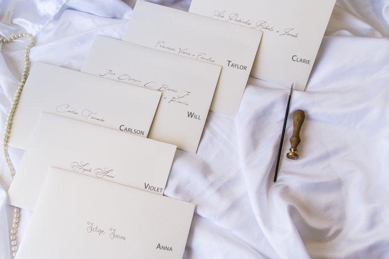 Letras para caligrafia de convite