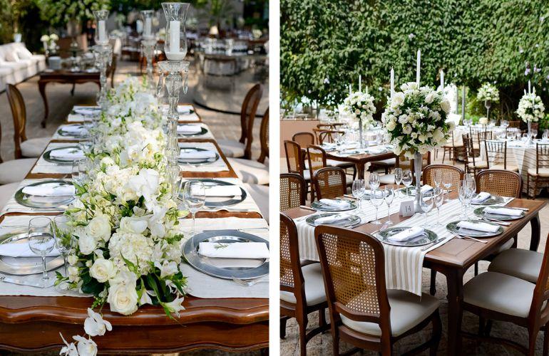 Decoração de Casamento Branca e rústica