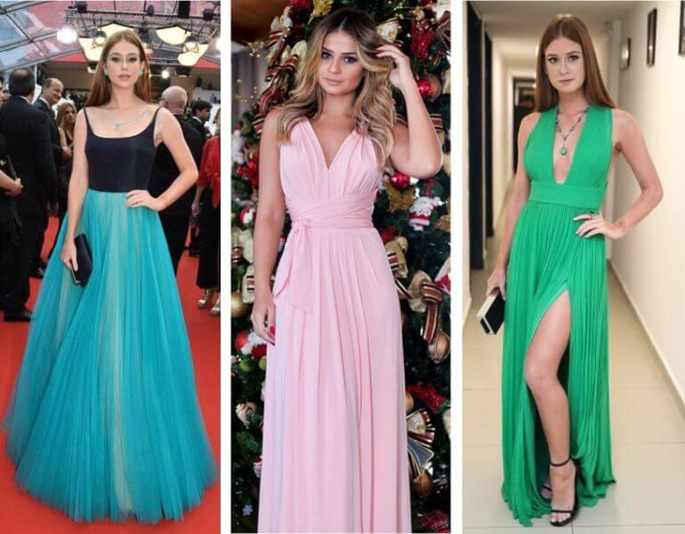 Fotos de vestidos longos modernos