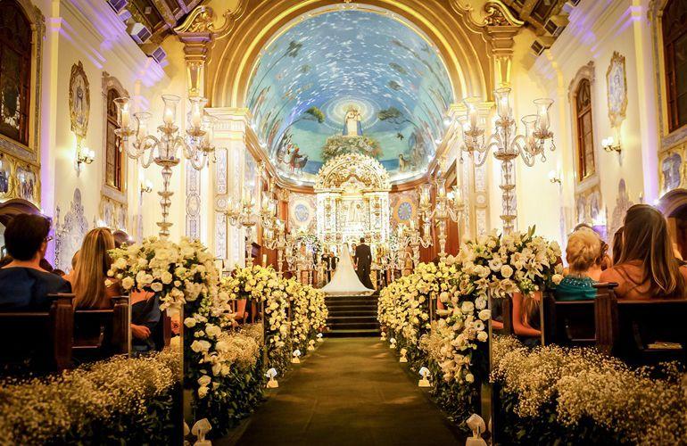 Decoração de Cerimônia de Casamento Igreja Nossa Senhora do Brasil
