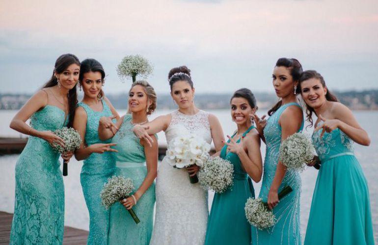 Madrinhas em Azul Tiffany