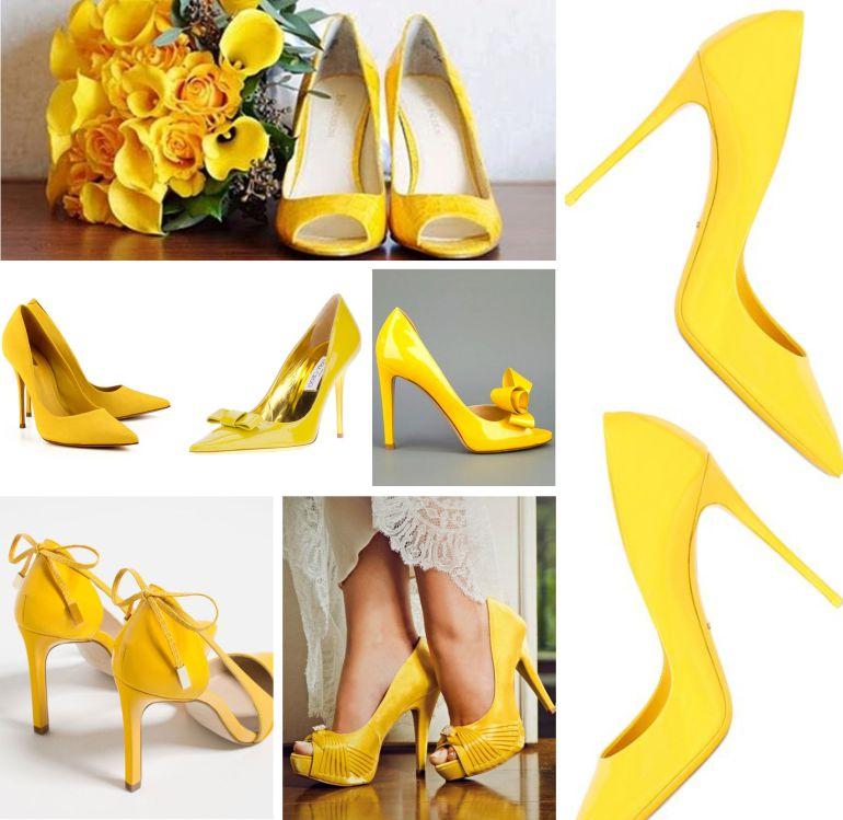 Sapato Amarelo noiva