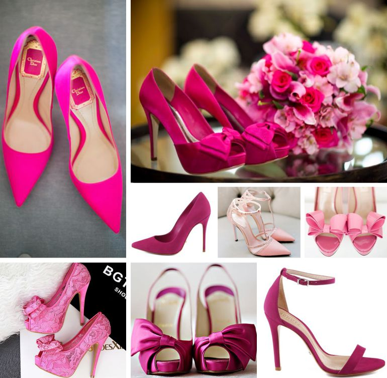 Sapato de noiva pink