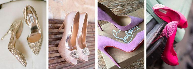 Sapatos de noiva para buquê rosa claro