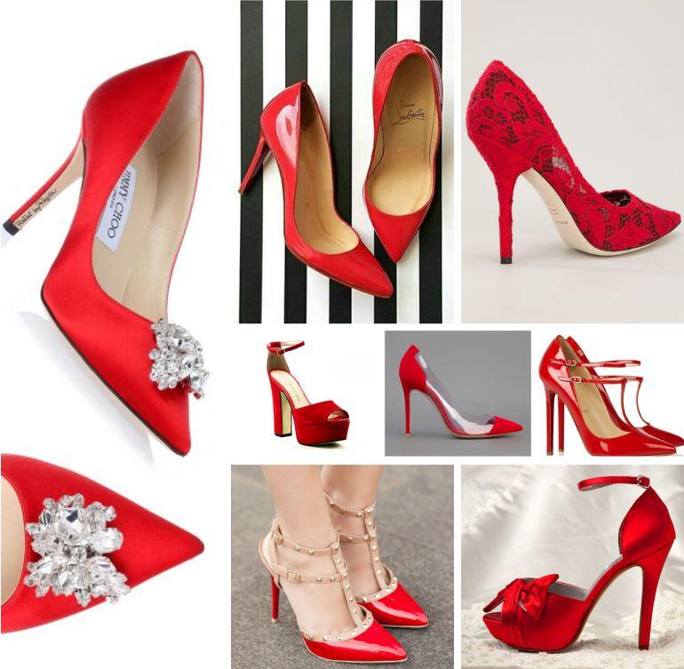 Sapatos de noiva vermelhos