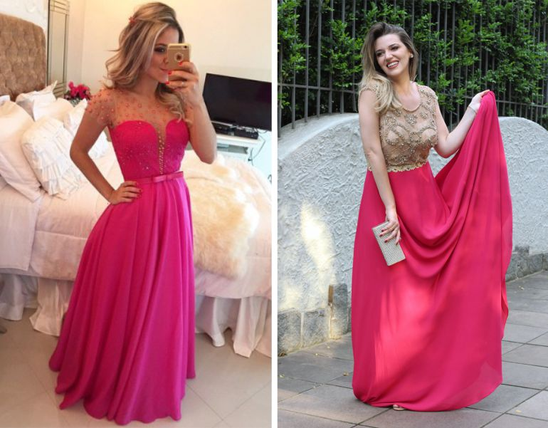 Vestido pink casamento