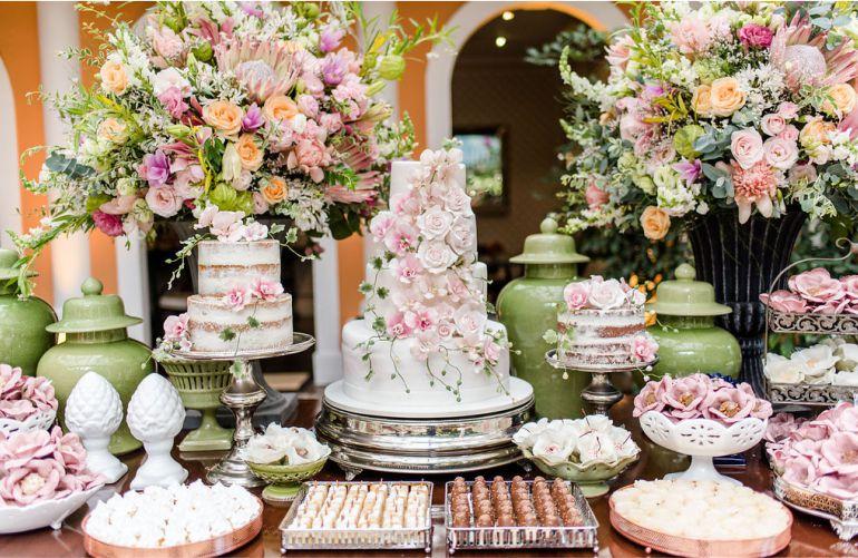 Decoração de Casamento Rosa e Champanhe