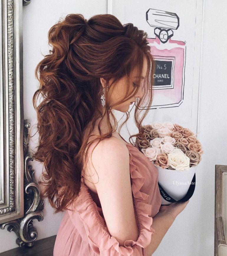 Penteados para noivas meio preso