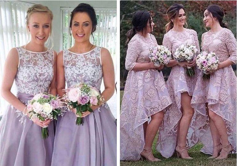 vestido de Demoiselle lilás