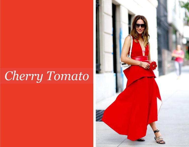 Tendências para vestidos de noiva: Cherry Tomato