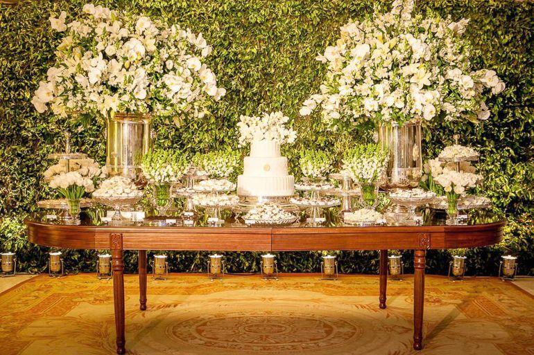 4f4f3a1fdb Casamento clássico Branco e Verde