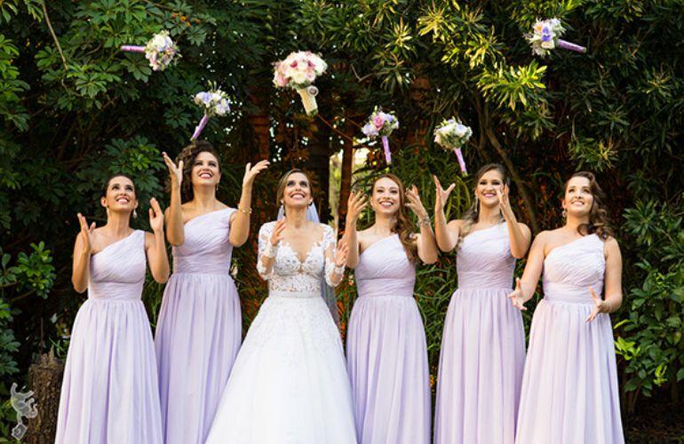 Madrinhas de Casamento em Lilás