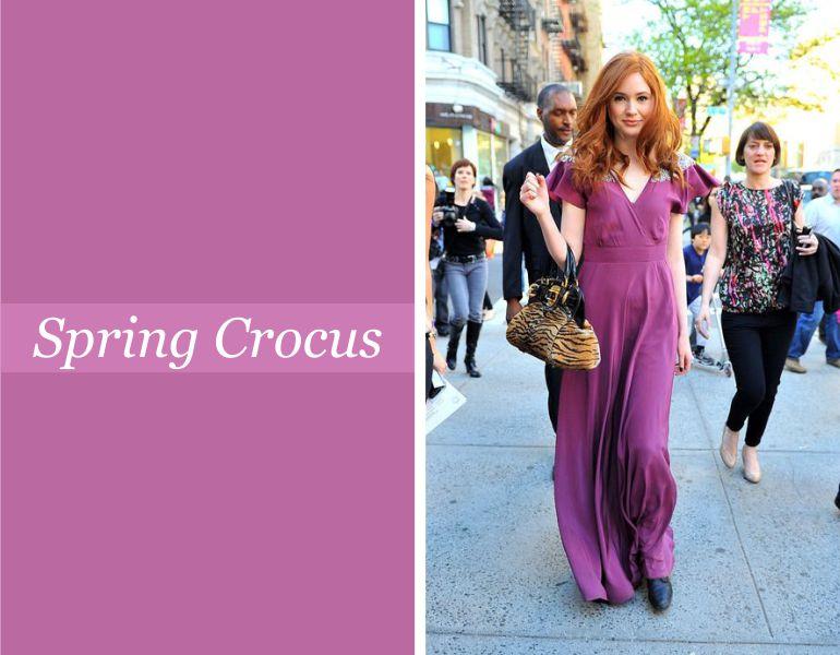 Tendências para vestidos de festa: Spring Crocus