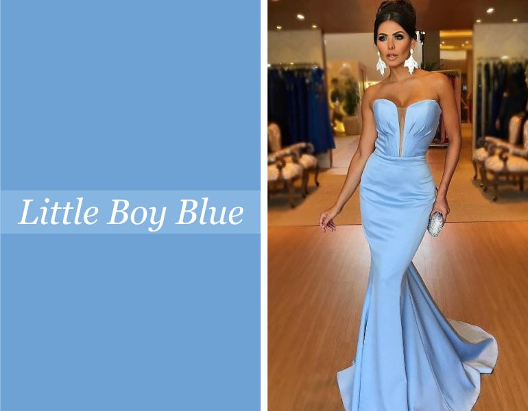 Tendências para vestidos de festa: Little Boy Blue