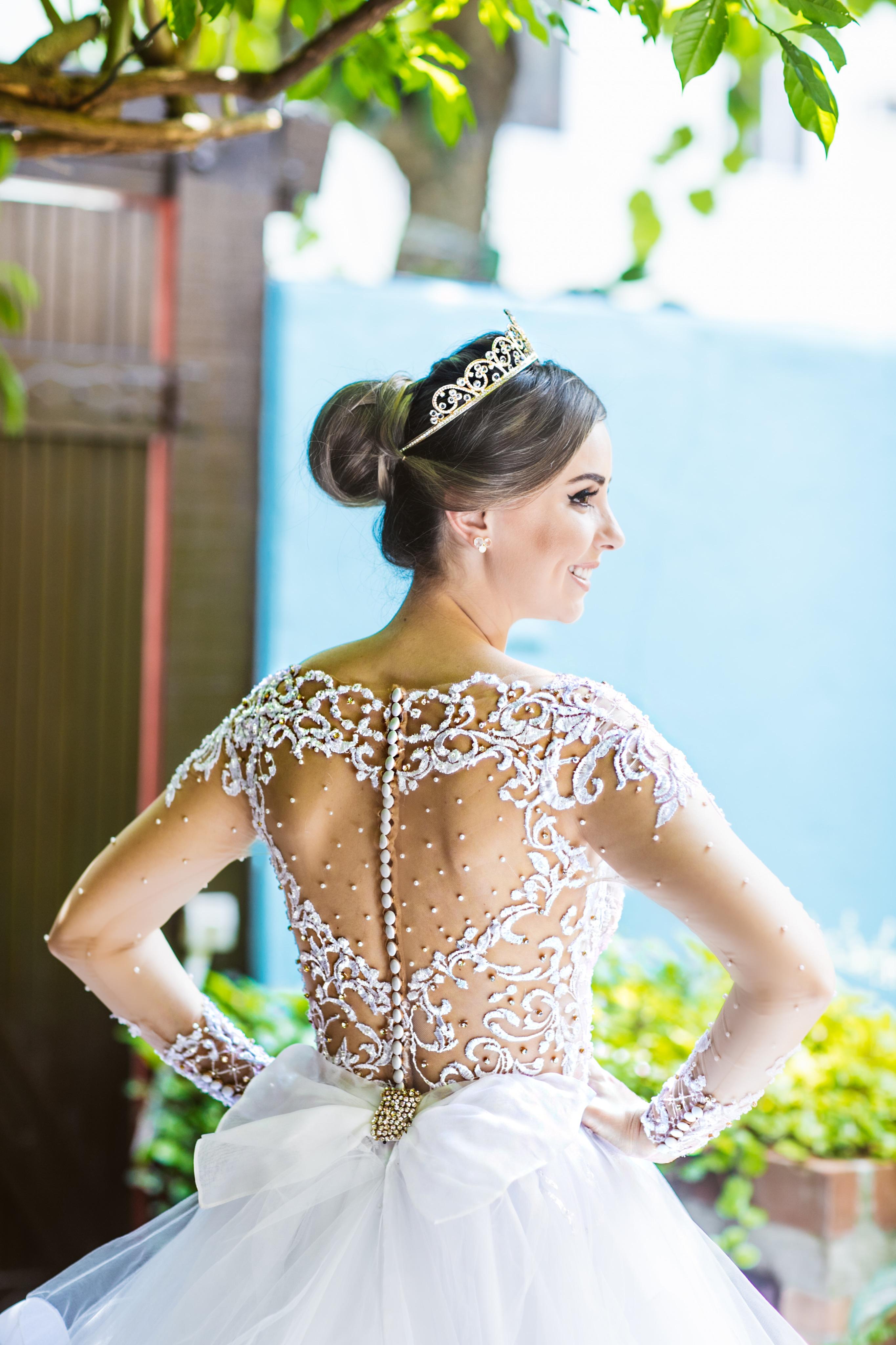 Vestido princesa bordado