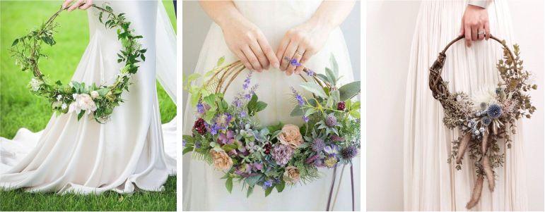 Diferentes estilos de Hoop bouquet