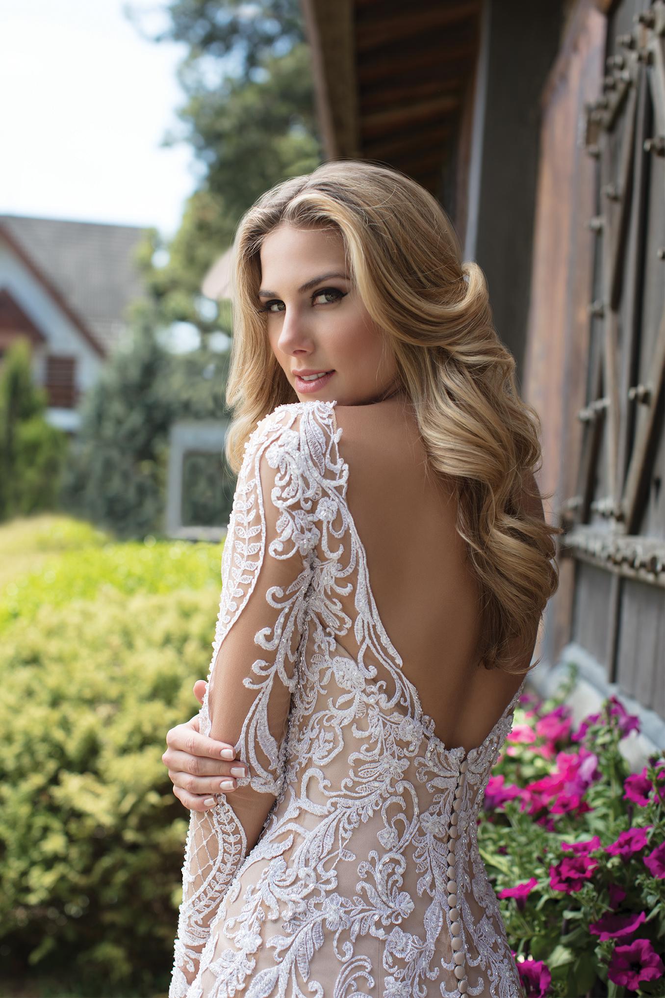 Inspirações para vestidos de noiva - Modelo Gérbera