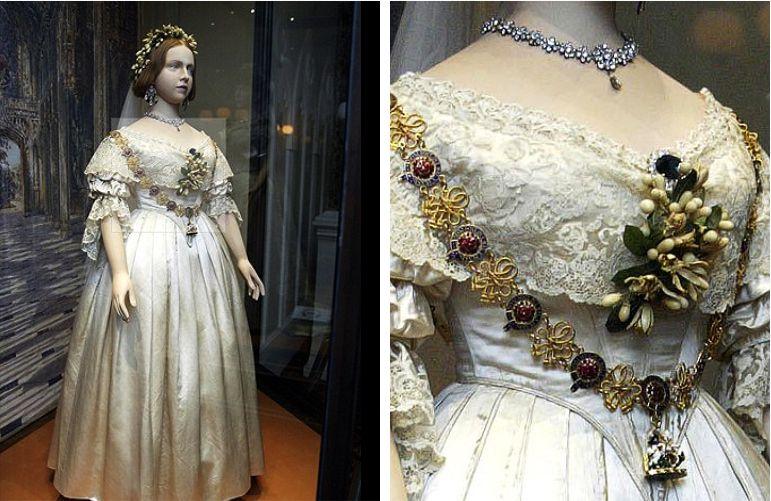 Vestido de noiva da rainha Victoria em 1840