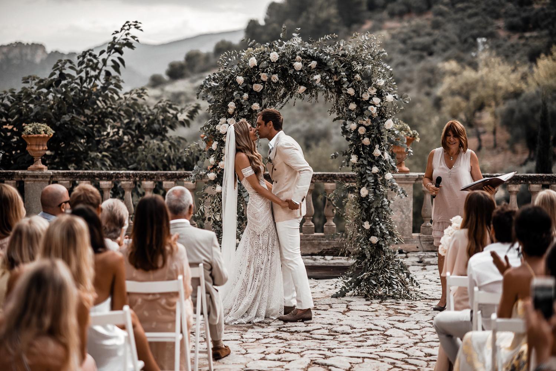 Arco de flores no casamento | Tali Photography