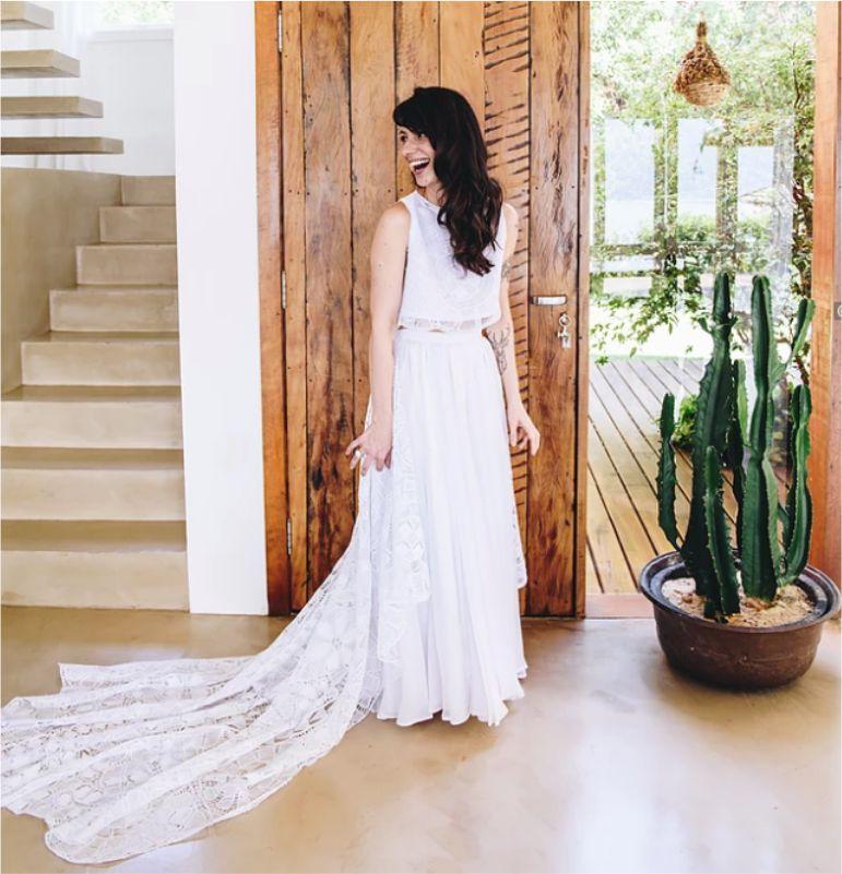 Vestido de noiva praia Boho
