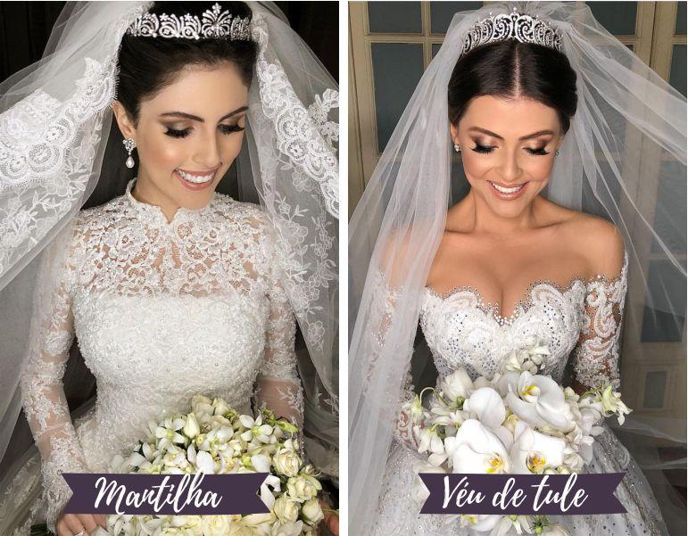 Diferença entre Véu e Mantilha de noiva