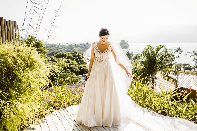 Vestido de noiva praia - Estilo Princesa