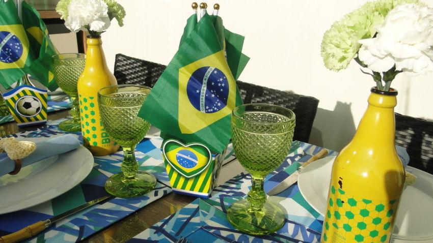 Decoração tema chá bar copa do mundo