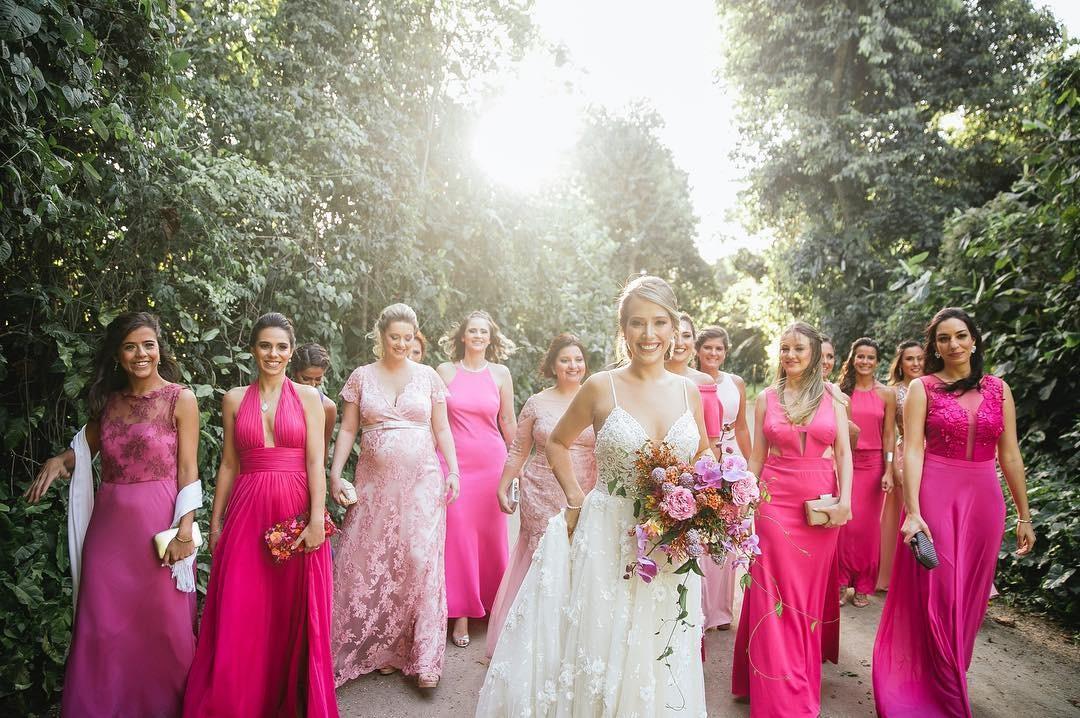 Madrinhas de rosa