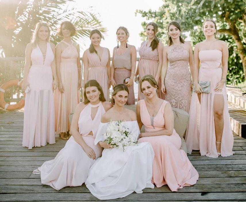 Madrinhas de rosa nude