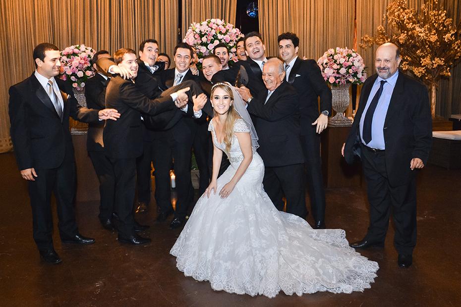 Convidados de casamento clássico