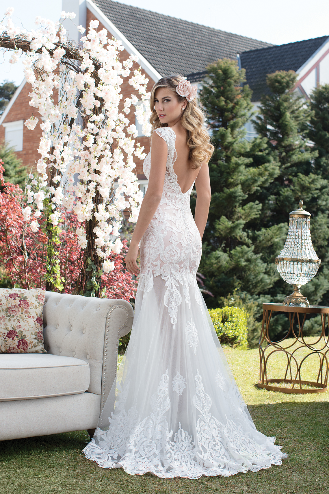 Vestido de noiva com tule e renda | Nova Noiva