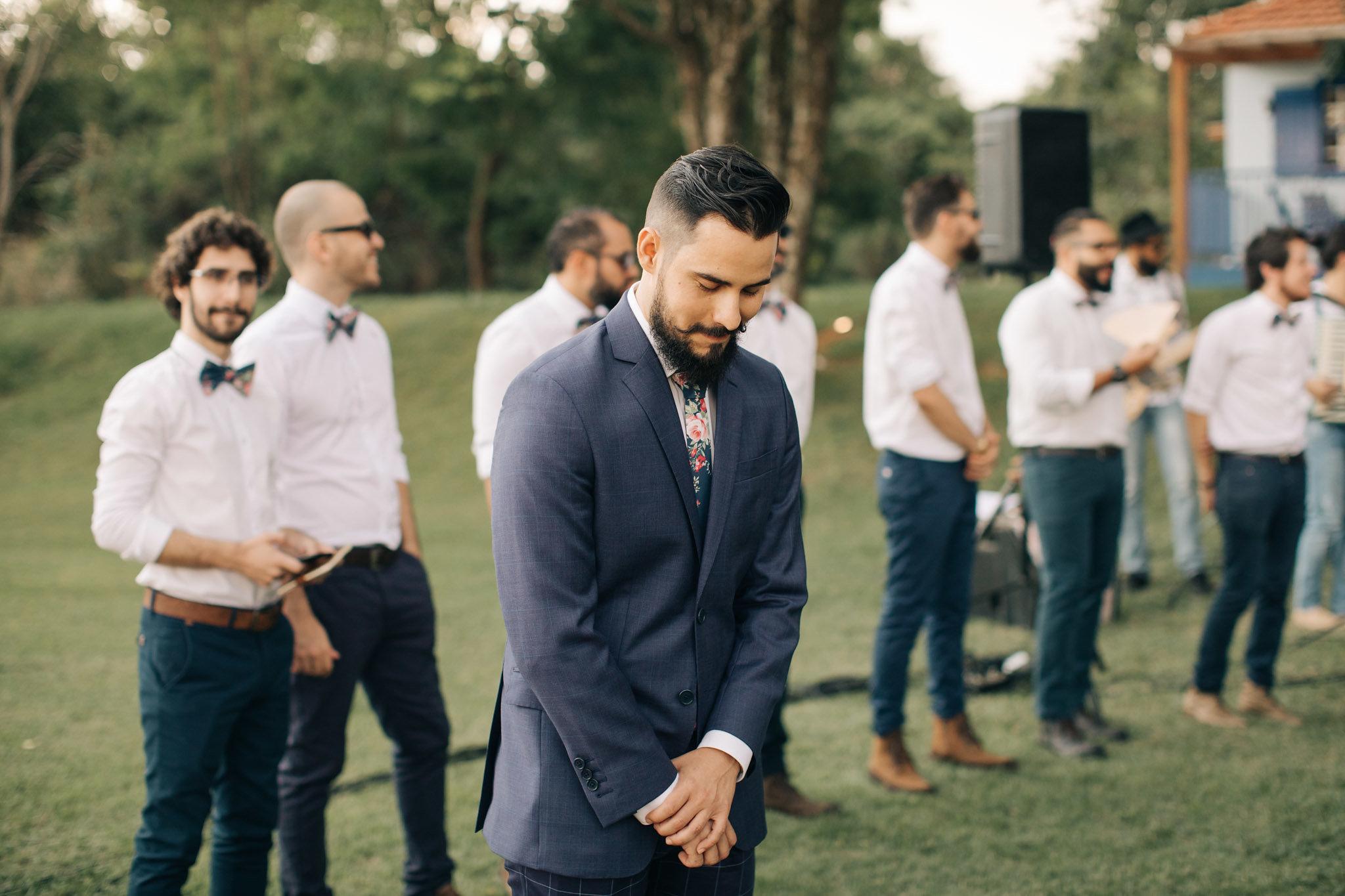Trajes masculinos para casamento boho
