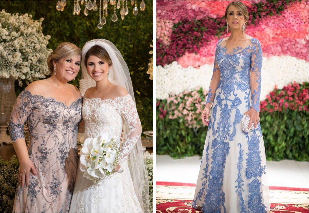 Vestidos para mães dos noivos com renda | Vestido Carol Hungria e Paulo Dolce
