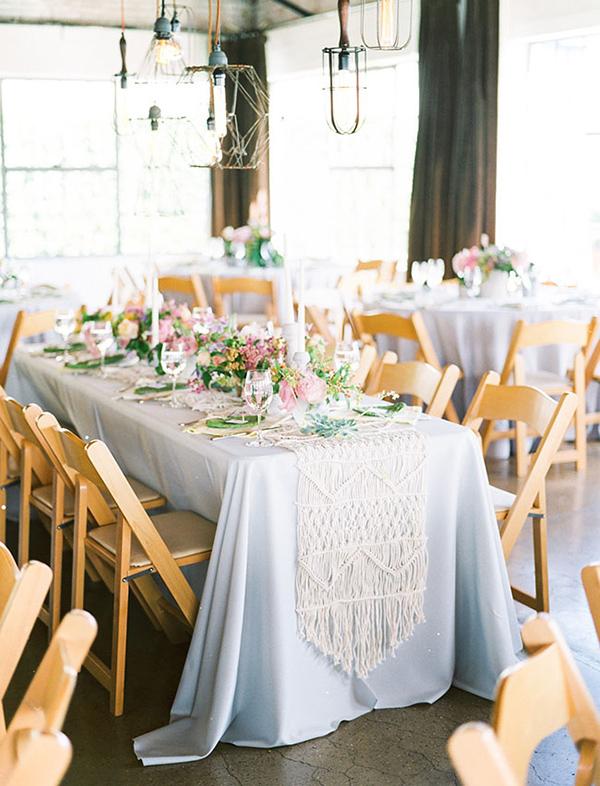 Macramê na decoração de casamento