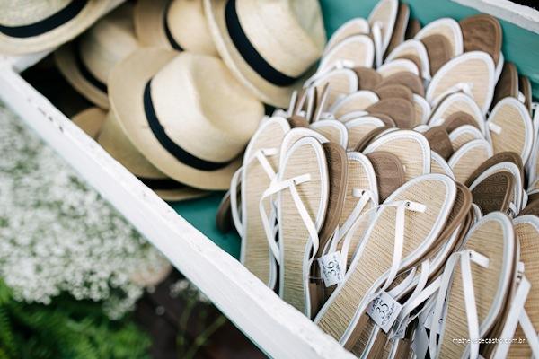Lembrancinhas de casamento: chinelos