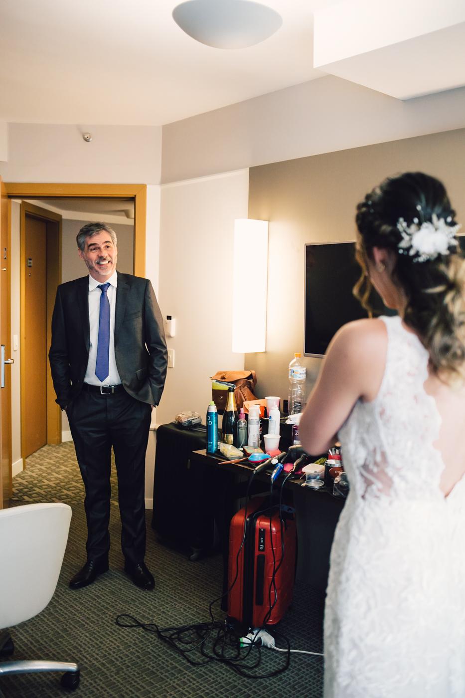 First look com o pai da noiva